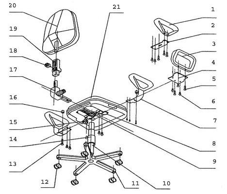 Ремонт компьютерного кресла газлифт